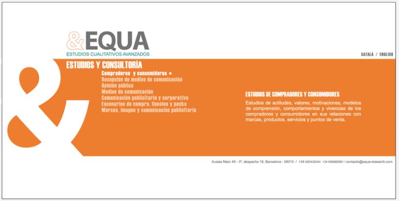 Diseño Imagen + Web EQUA 3