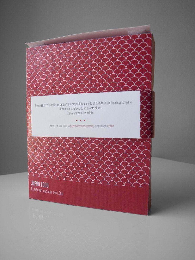 Diseño cubiertas y packaging: Libro de cocina japonesa 2