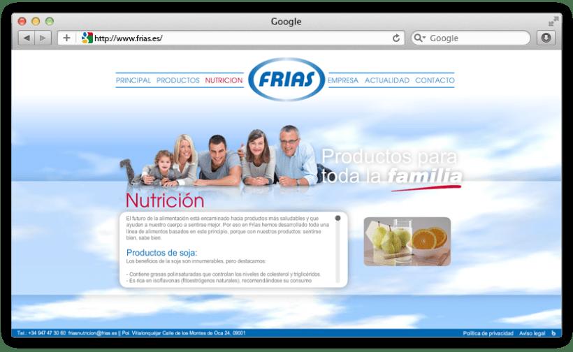 web Grupo Frías Alimentación 4