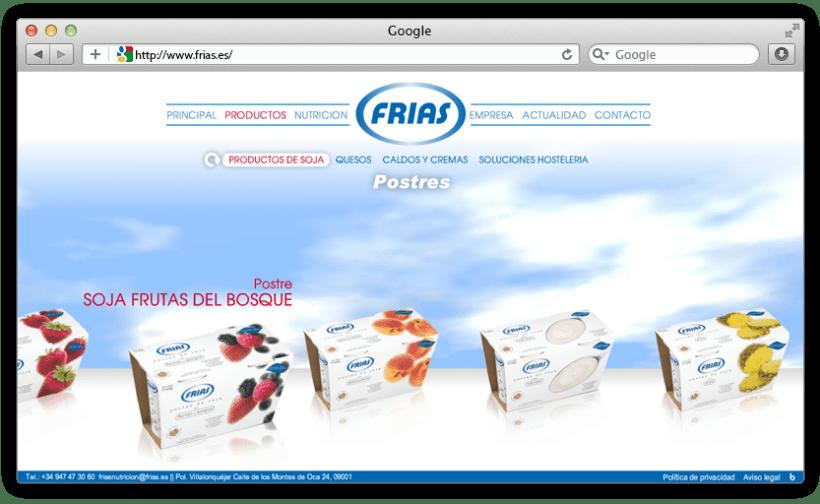web Grupo Frías Alimentación 2