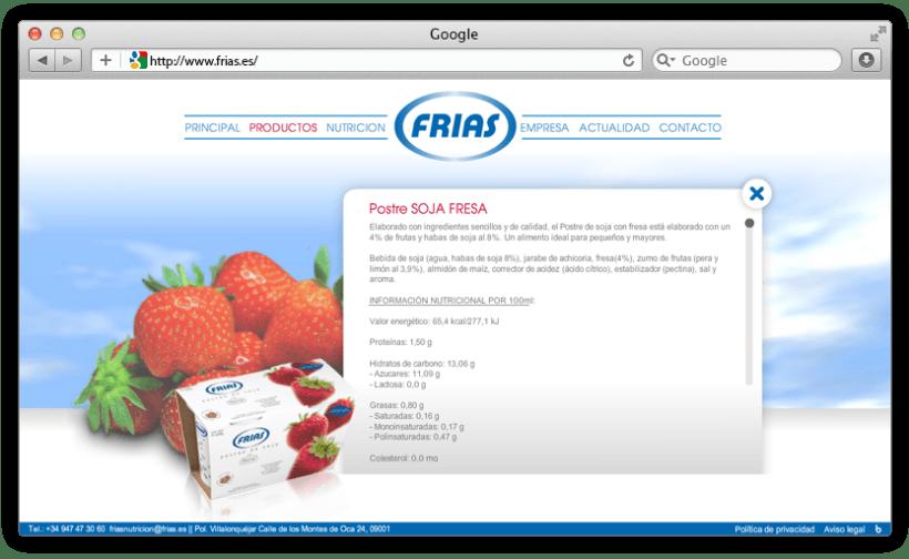 web Grupo Frías Alimentación 3