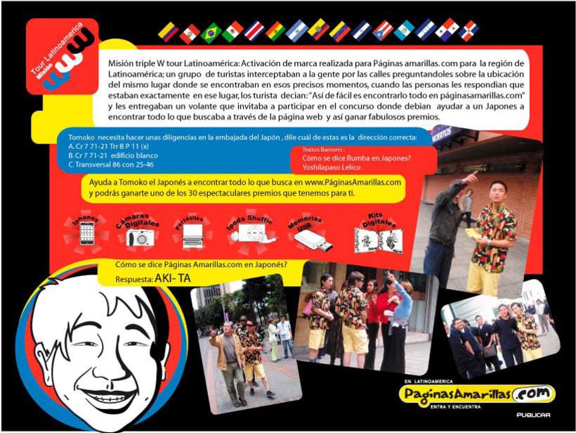 Páginas Amarillas Tour Latinoamérica 1