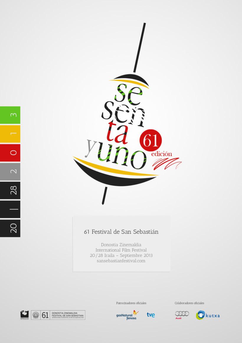 Cartel de Festival Internacional de Cine de San Sebastián 2013 3
