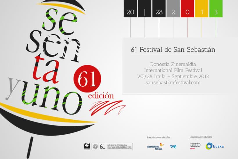 Cartel de Festival Internacional de Cine de San Sebastián 2013 4