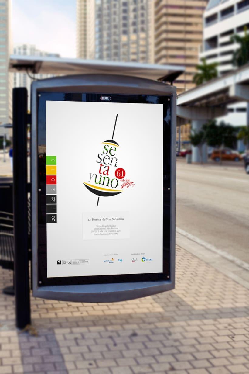 Cartel de Festival Internacional de Cine de San Sebastián 2013 5