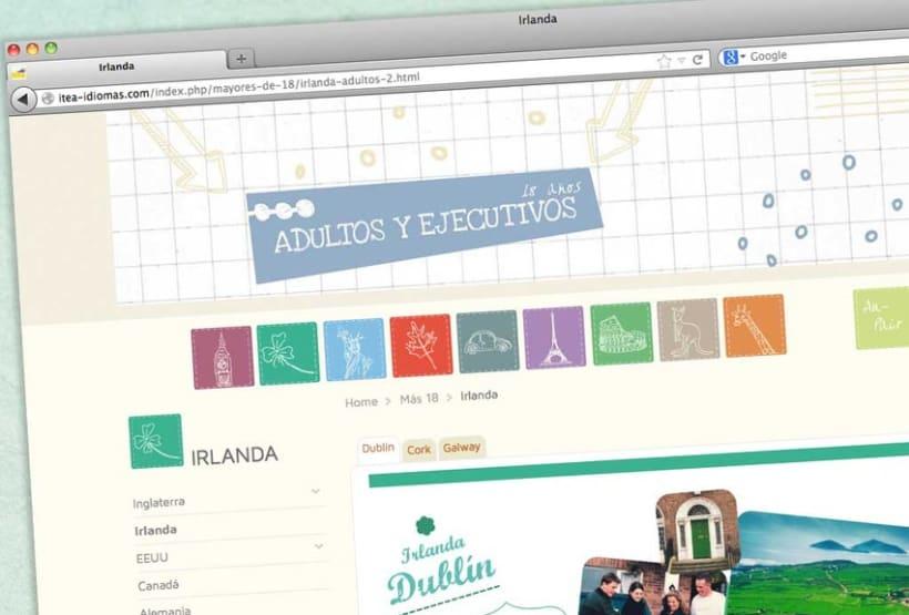Itea idiomas website 6