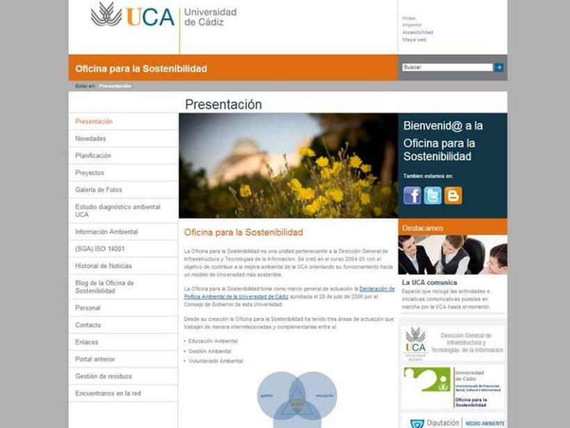 Diseño web Universidad de Cádiz 1