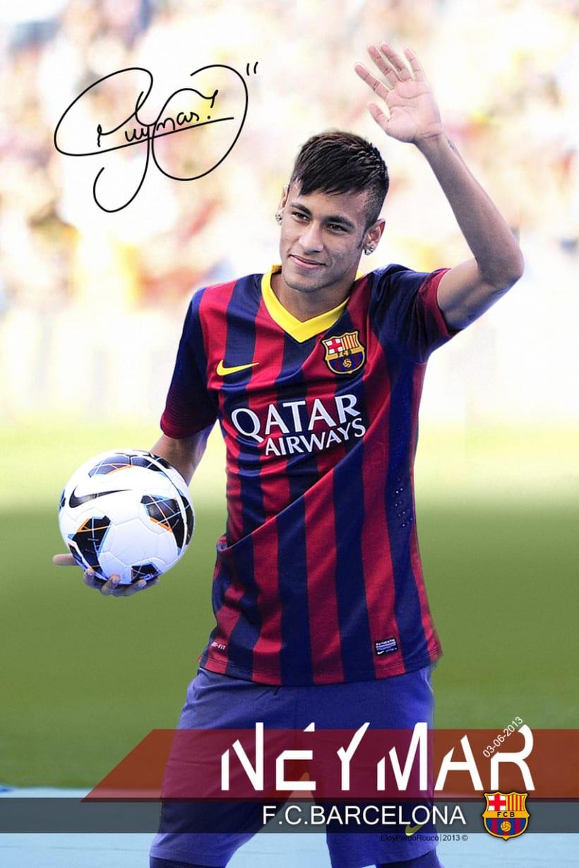 Póster NeymarFCB 1