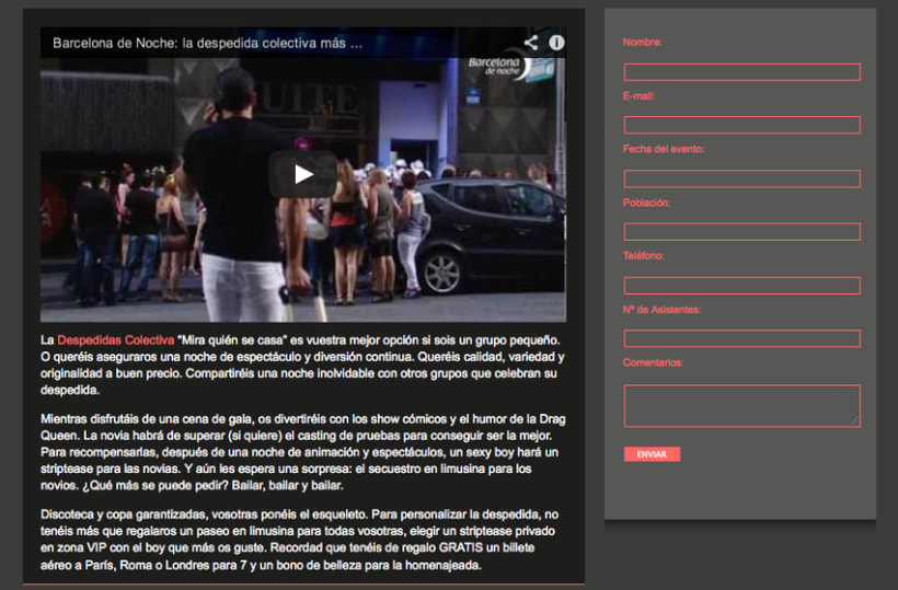 Barcelona noche: contenidos 2