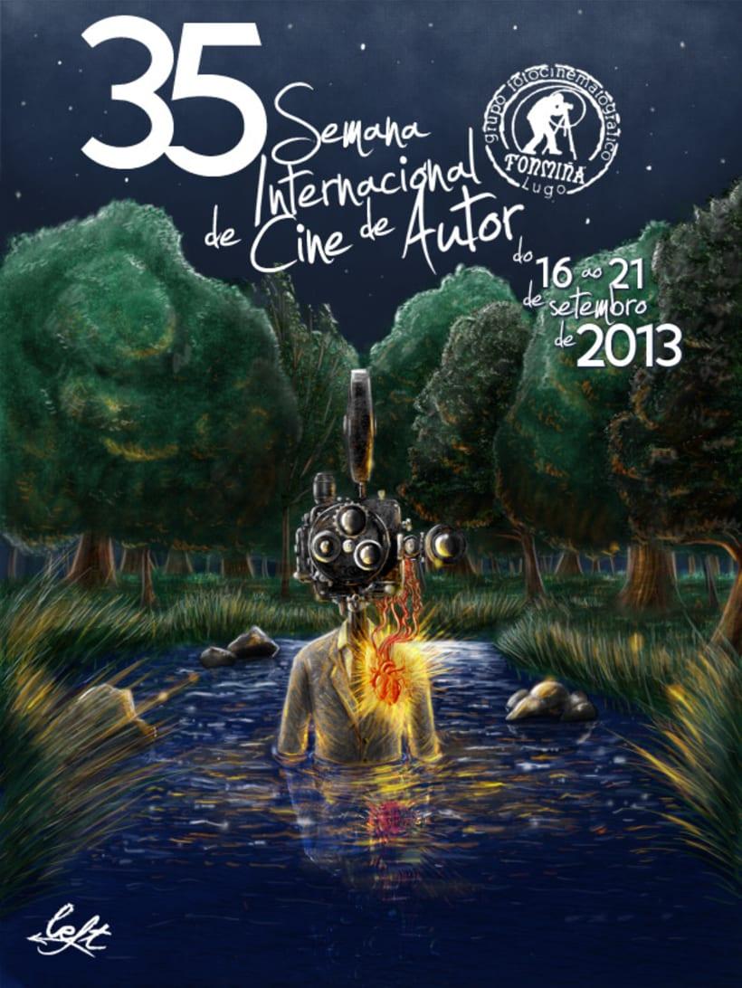Cartel 35 Semana Internacional de Cine de Autor (Fonmiña) 1