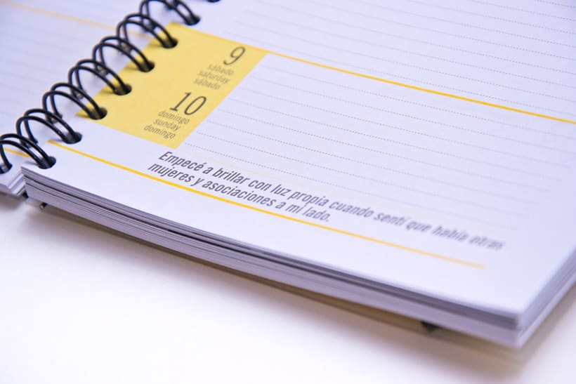 Calendario y Agenda para ACSUR 10