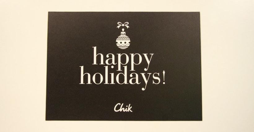 Chik Christmas Card 1