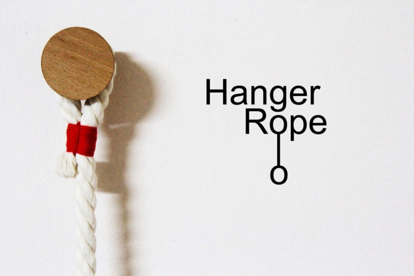 Hanger Rope - Perchero de pared 1