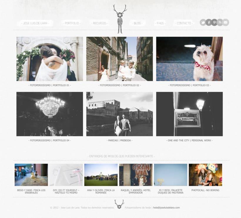 Branding y web para fotógrafo José Luis de Lara 1