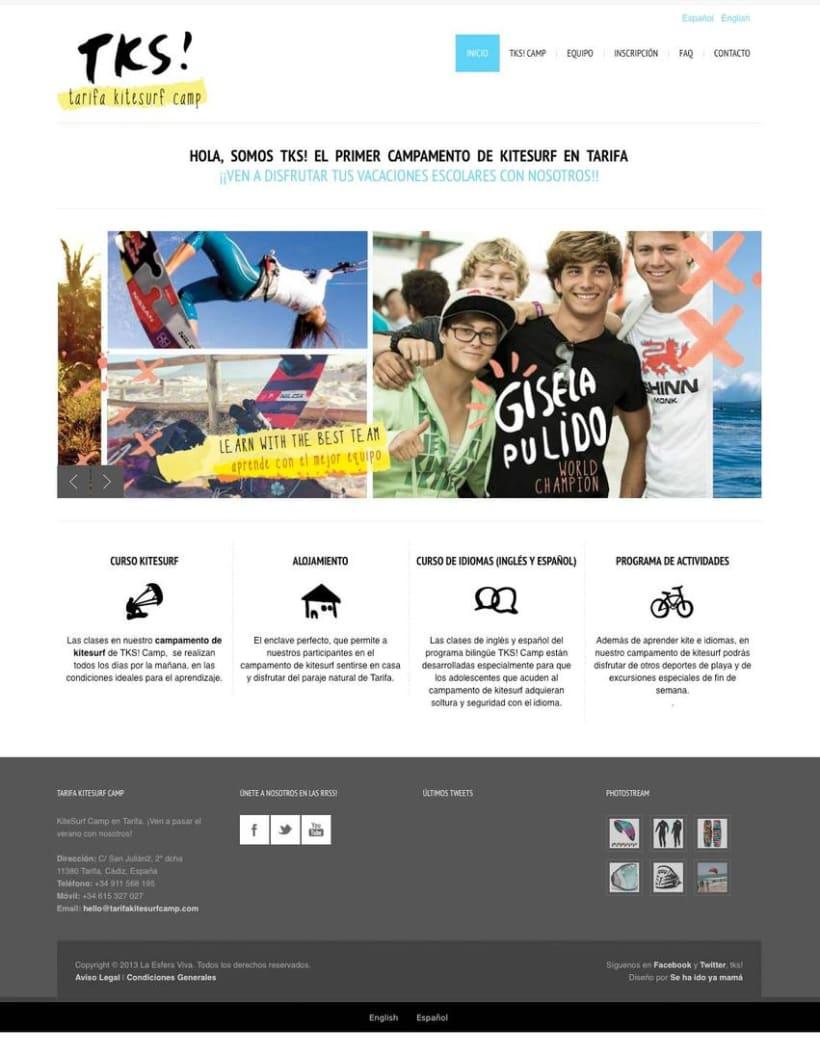 Branding + Web, Tarifa Kitesurf Camp 3