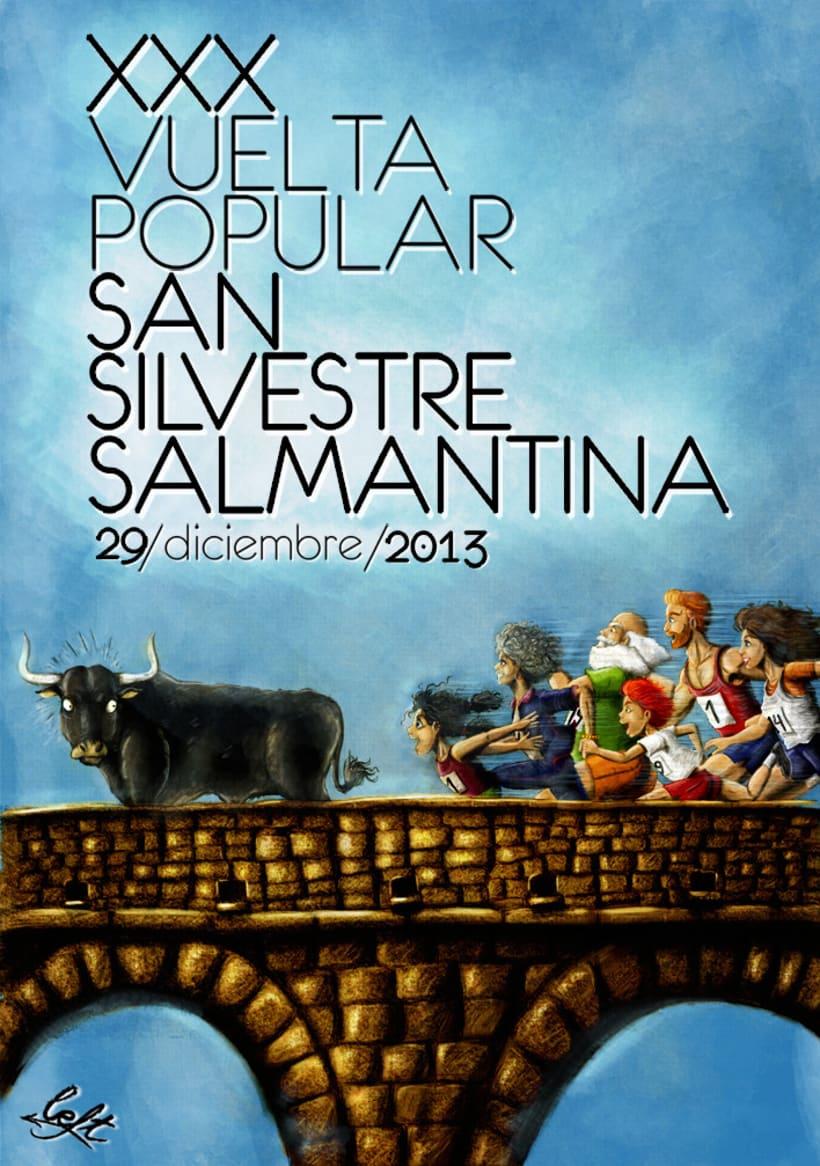 Cartel XXX Vuelta Popular San Silvestre Salmantina 1