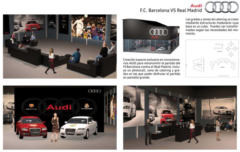 AUDI. FCBarcelona VS Real Madrid exclusive event 1