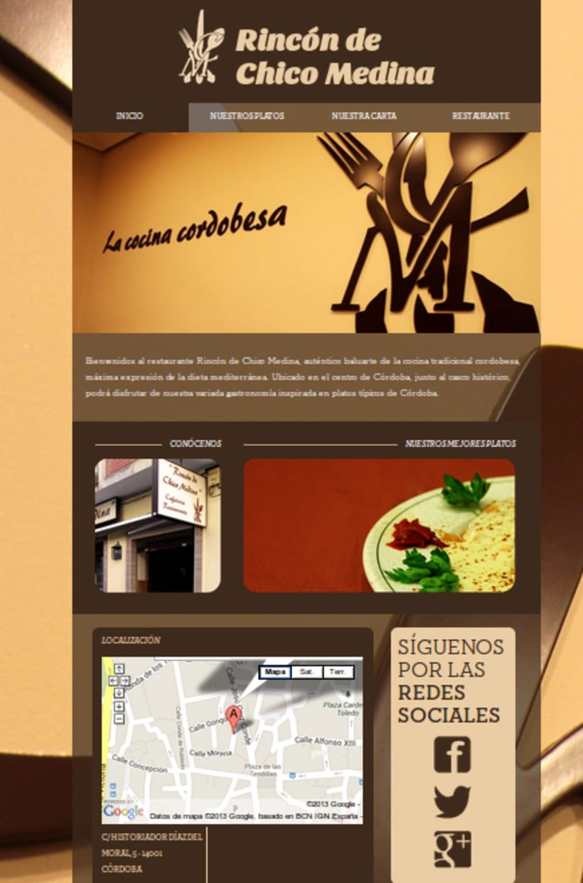 Web Restaurante Rincón de Chico Medina 1