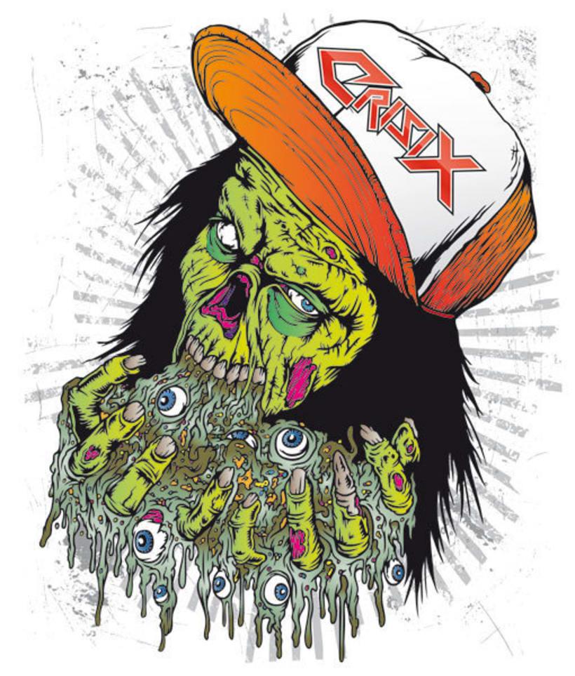 Crisix Ultra Trash - Ilustracion para Camiseta 2