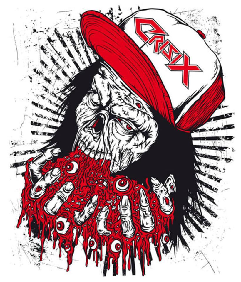 Crisix Ultra Trash - Ilustracion para Camiseta 3