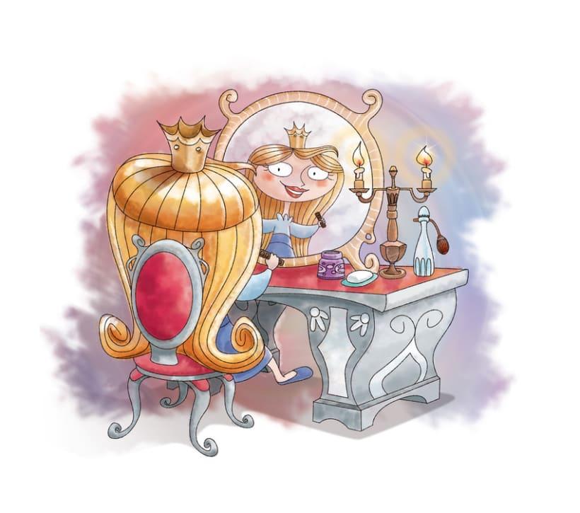 Proyecto de ilustración para el libro La Princesa Carolina 3
