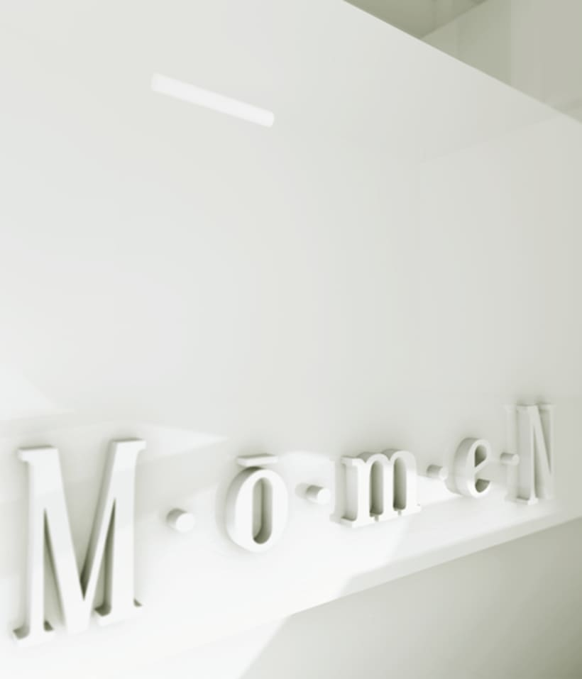 Diseño de identidad corporativa para Momen 7
