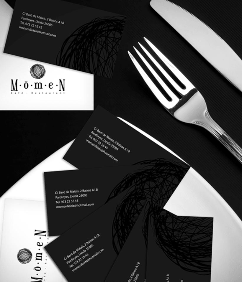 Diseño de identidad corporativa para Momen 2