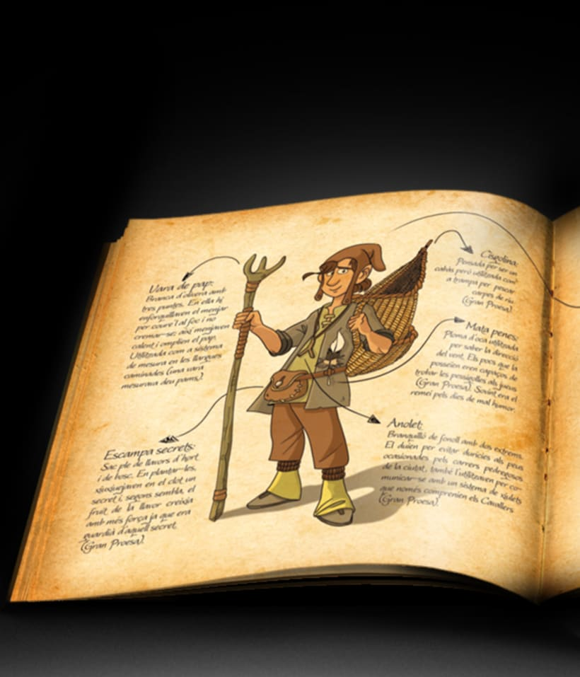 Proyecto de ilustración para el libro El llibre dels Sirvensis 3