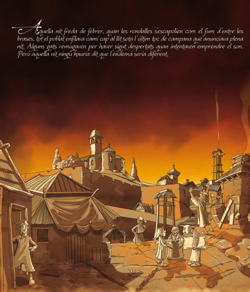 Proyecto de ilustración para el libro El llibre dels Sirvensis 2