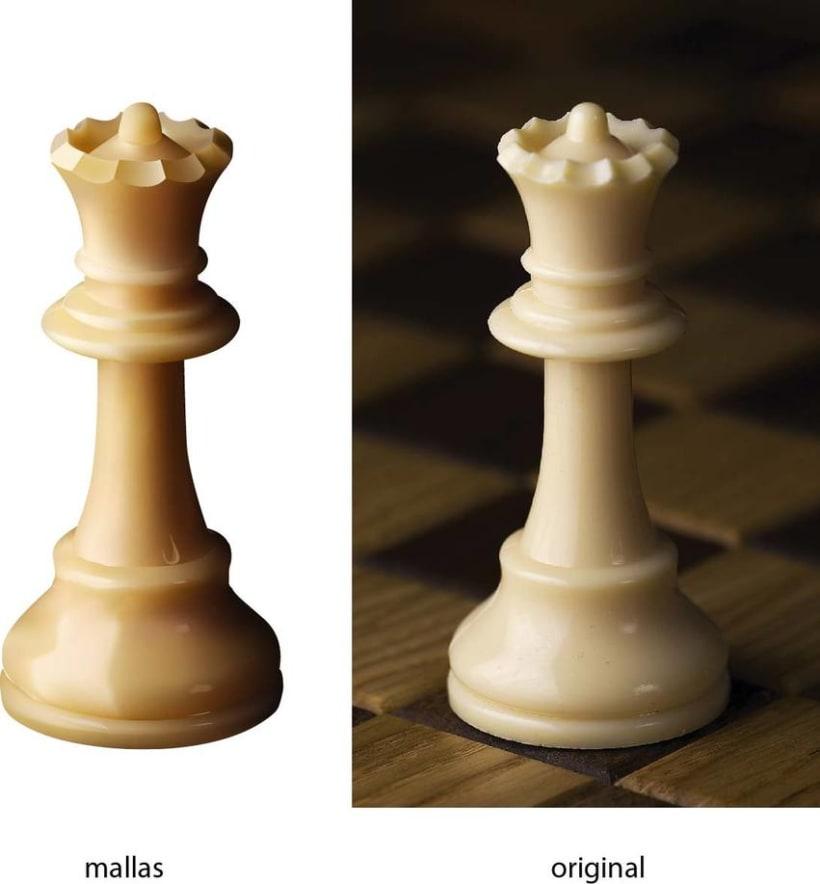 Pieza de ajedréz en illustrator - mallas 2
