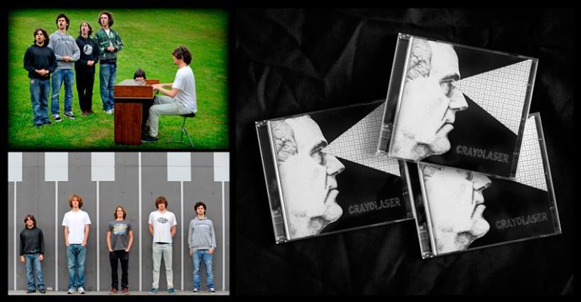 Diseño y maquetación del cd para el grupo Crayolaser 2