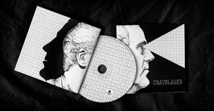 Diseño y maquetación del cd para el grupo Crayolaser 6