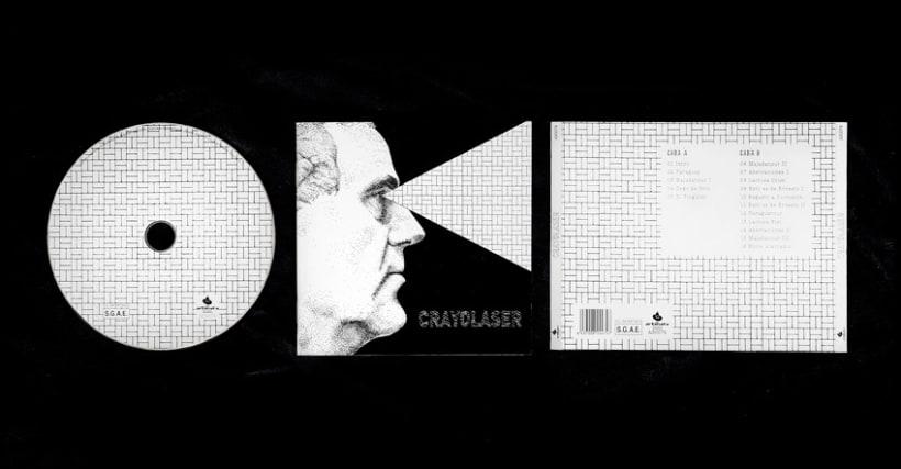Diseño y maquetación del cd para el grupo Crayolaser 5