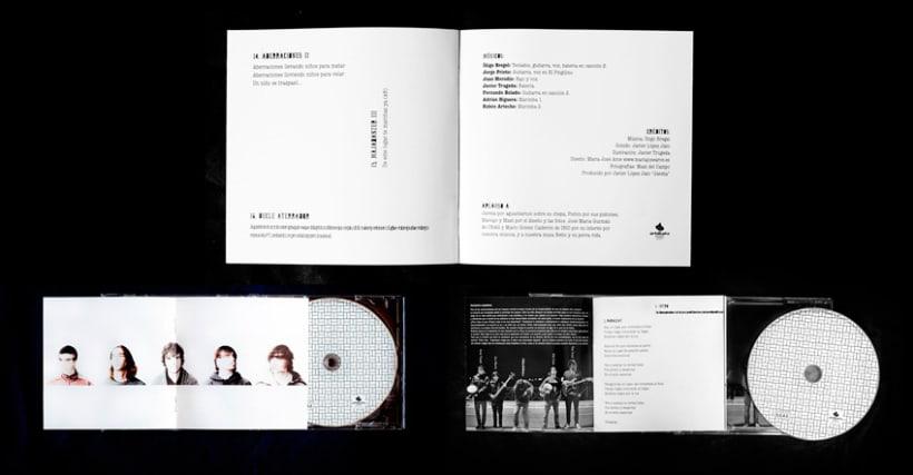 Diseño y maquetación del cd para el grupo Crayolaser 4