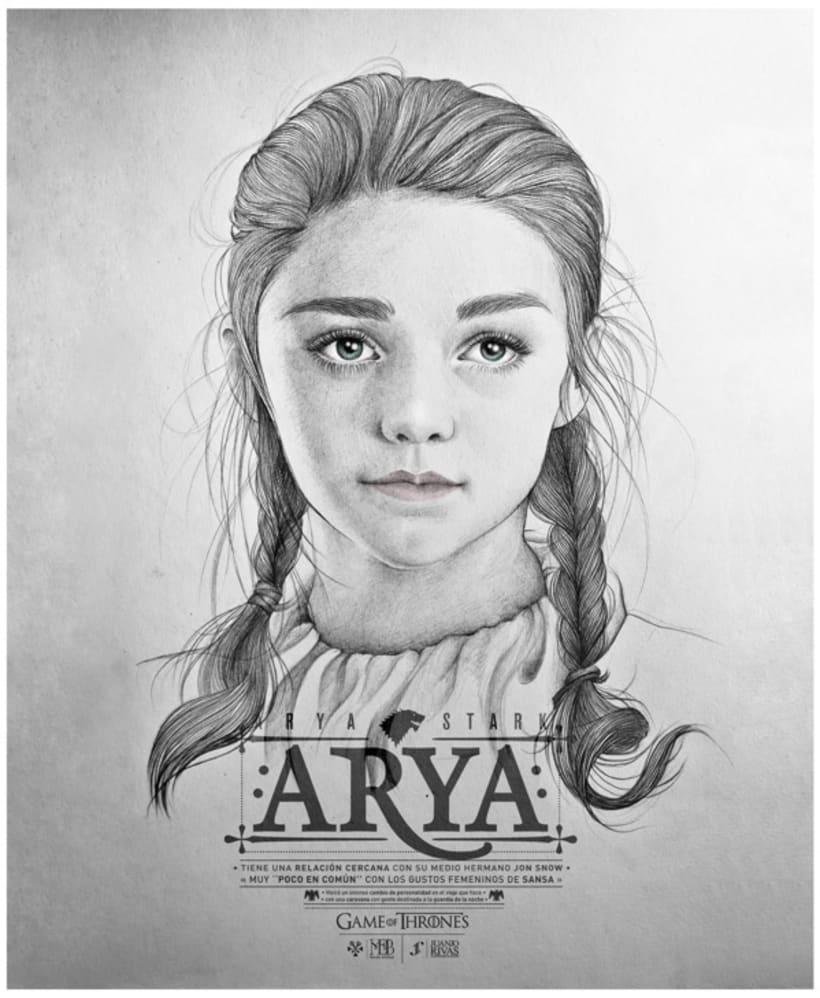 Arya Stark illustration (G.O.T) vol.2 3