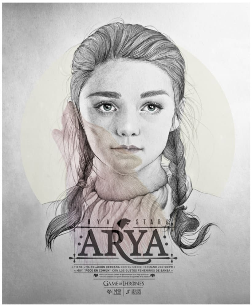 Arya Stark illustration (G.O.T) vol.2 1