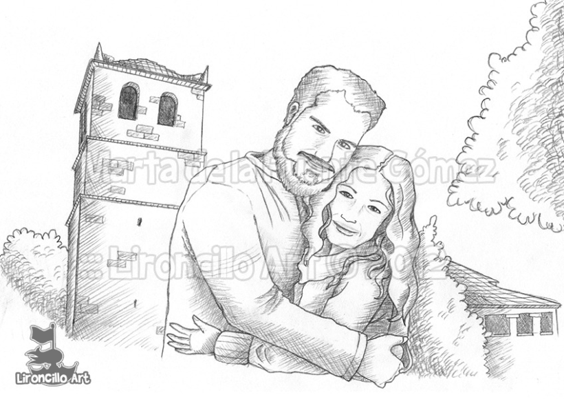 Ilustración para invitación de boda 2
