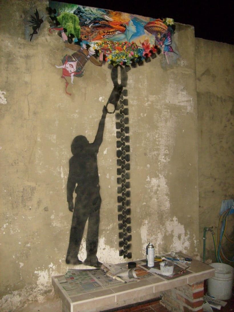 Grafitti y pegatina 4
