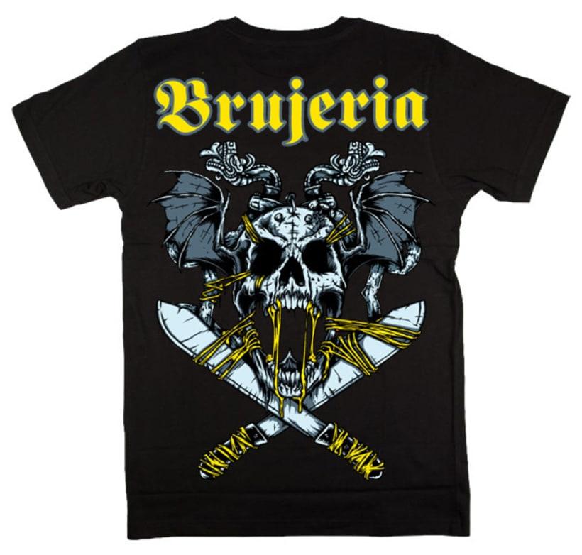 Brujería European Tour 2012 - Poster de la gira y Camiseta de merchandise  2