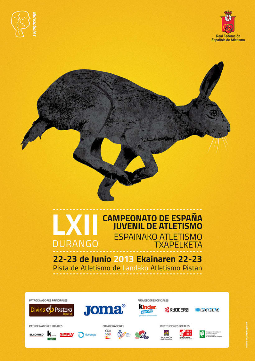 Cartel campeonato de España juvenil de atletismo 2