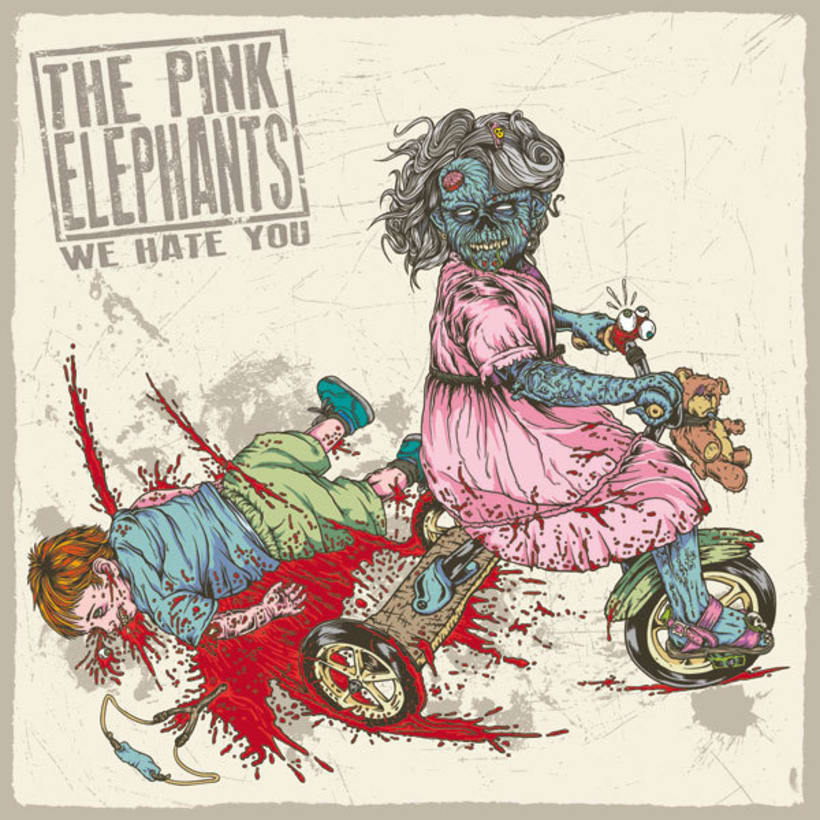 Pink Elephants: We hate You - Ilustraciones para Album 1