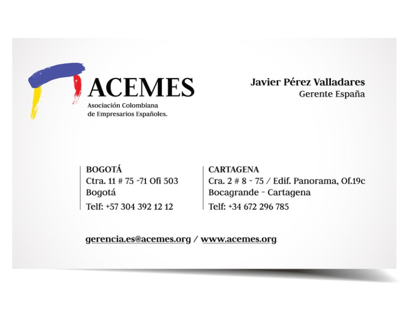 ACEMES: Logo y Business card. 1
