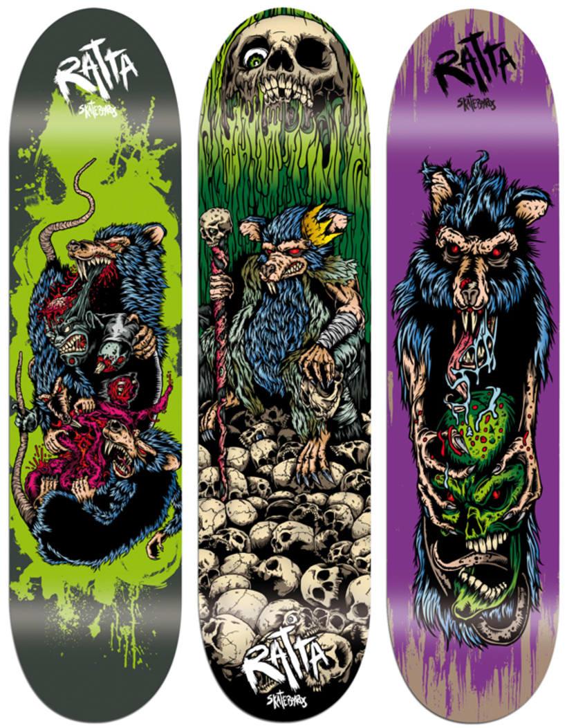 Diseños para tablas de Ratta Skateboards 1