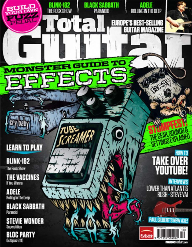 Ilustración para portada de Total Guitar UK 1