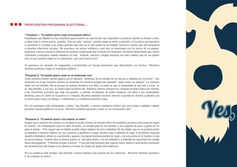"""Creativo """"Sr Perro for President"""" 5"""