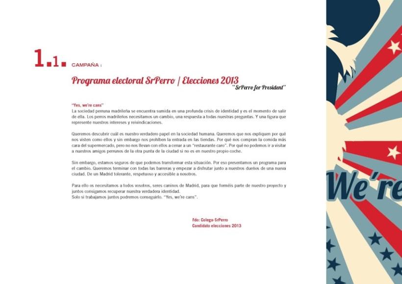 """Creativo """"Sr Perro for President"""" 4"""