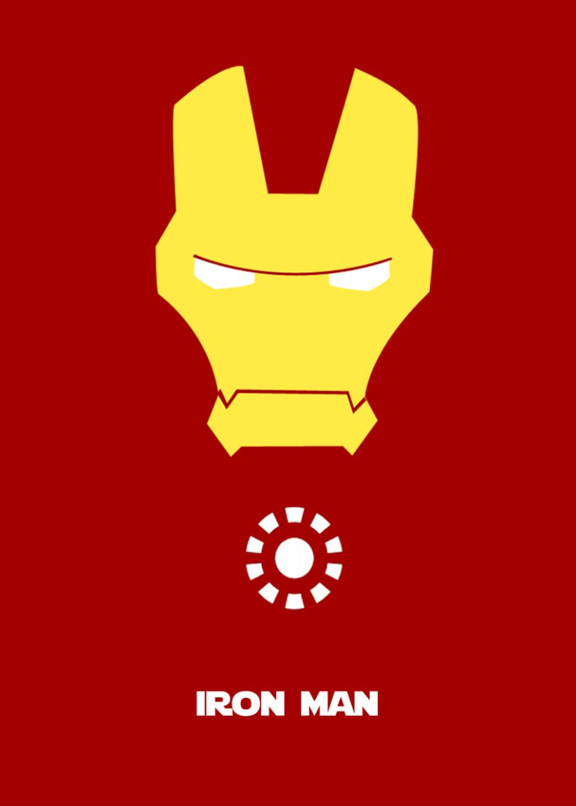 Cartel Minimalista Iron Man 1