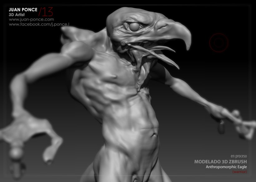 Personaje 3D - Anthropomorphic Eagle (Warrior 2