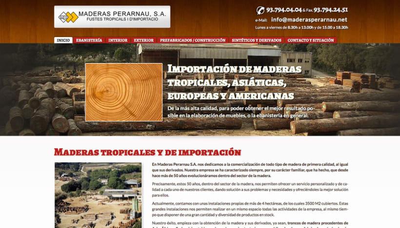 Maderas Perarnau (Joomla) 1