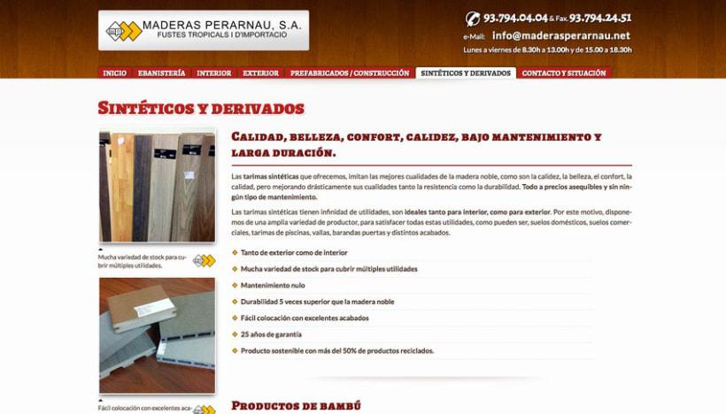 Maderas Perarnau (Joomla) 3